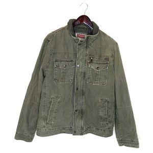 Levi's Olive Green Zip Up Padded Jacket